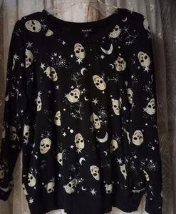 Torrid Skulls & Stars Pullover Sweatshirt